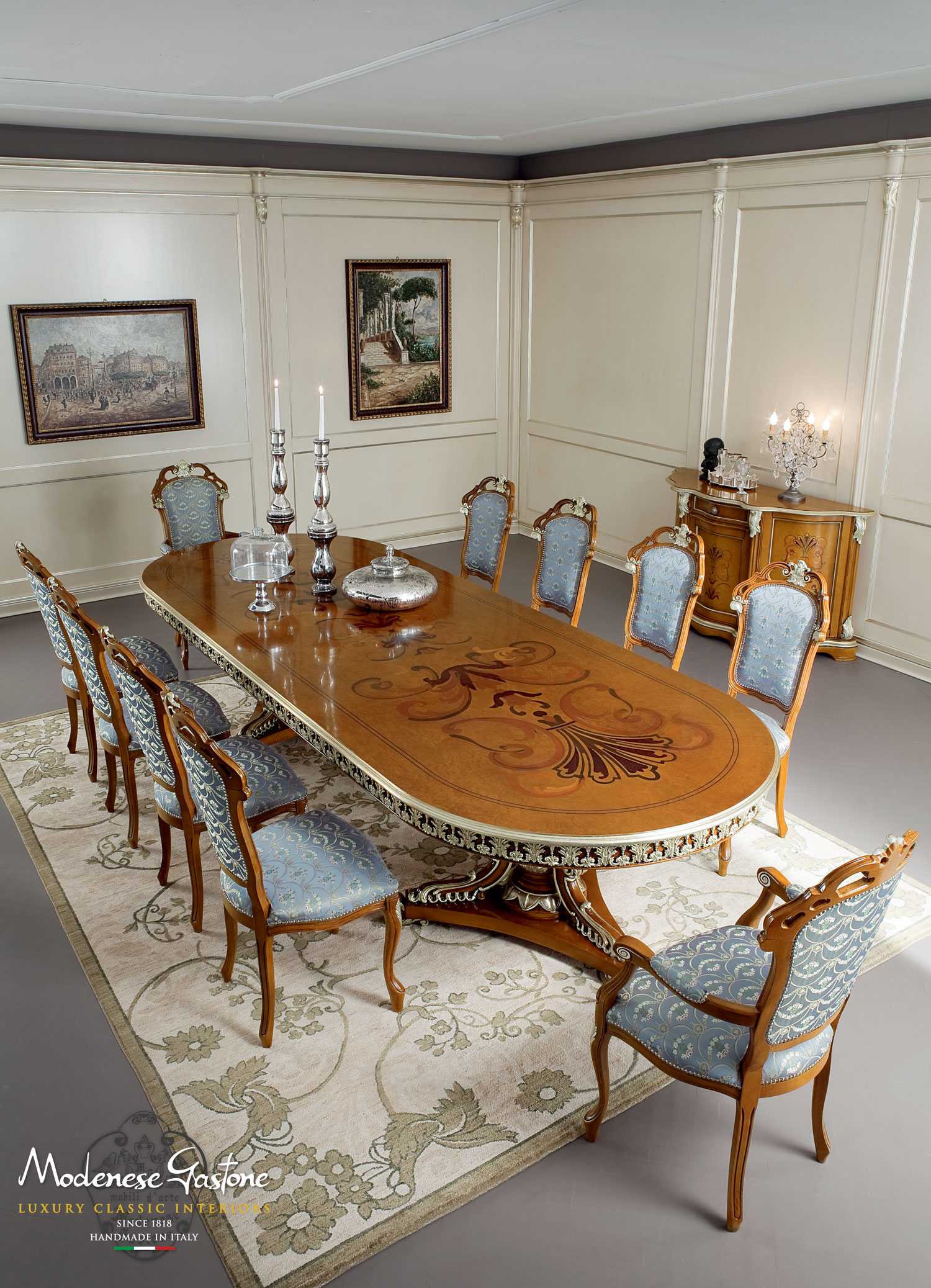 Classic-handmade-hardwood-furniture-for-dining-room-Bella-Vita-collection-Modenese-Gastone