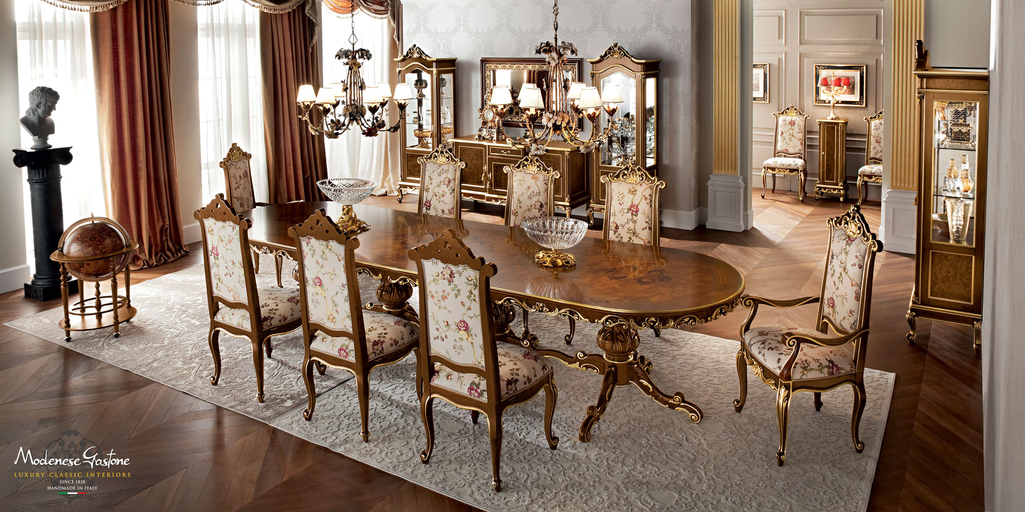 Dining-room-furnishing-ideas-inlaid-one-piece-table-Casanova-collection-Modenese-Gastone